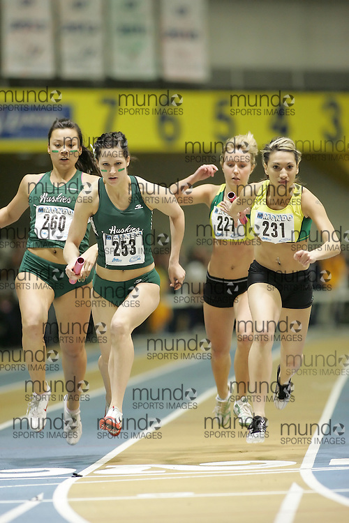 (Windsor, Ontario---12 March 2010) Merissa Margetts of University of Regina   competes in the  at the 2010 Canadian Interuniversity Sport Track and Field Championships at the St. Denis Center. Photograph copyright Sean Burges/Mundo Sport Images. www.mundosportimages.com