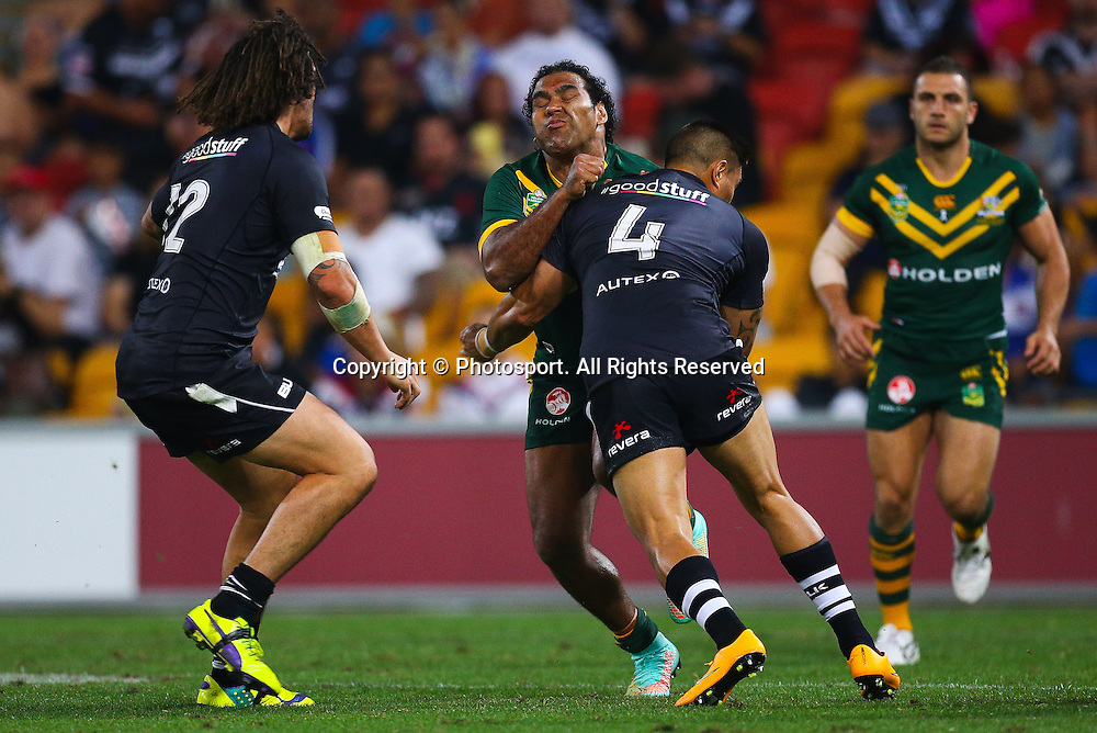 Sam Thaiday during the Four Nations test match between Australia and New Zealand at Suncorp Stadium,  Brisbane Australia on October 25, 2014.
