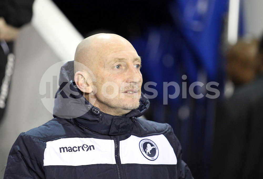 Millwall manager Ian Holloway during the Sky Bet Championship match between Millwall and Bolton Wanderers at The Den, London, England on 19 December 2014. Photo by Edmund  Boyden.