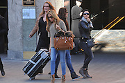 Barcelona, Spain 27 january 2014<br /> Sylvie van der Vaart / Sylvie Meis out and about in Barcelona during a shopping day<br /> ©Exclusivepix