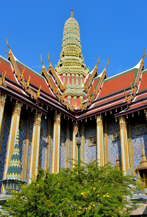 The Royal Pantheon at Grand Palace in Bangkok, Thailand<br />