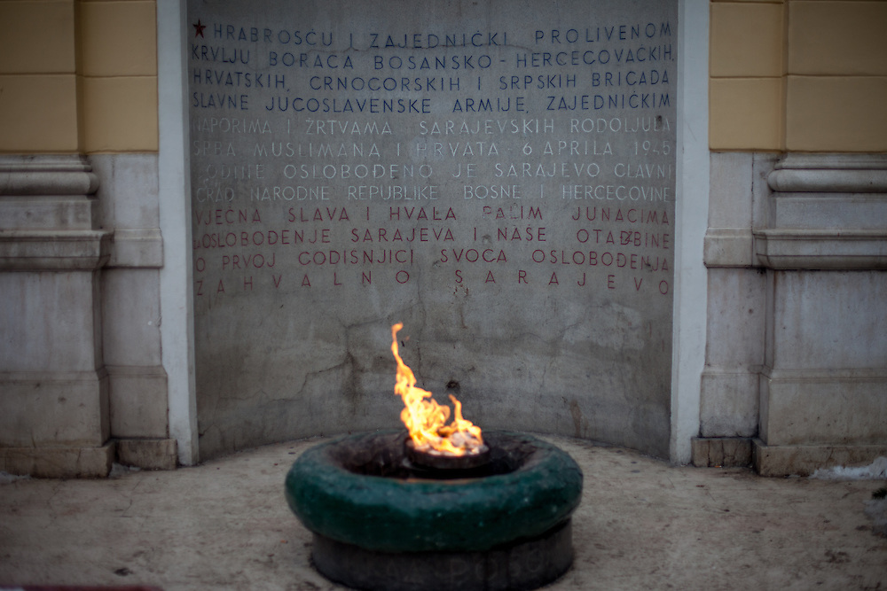 The Eternal flame (Bosnian, Croatian and Serbian: Vječna vatra / Вјечна ватра) is a memorial to the military and civilian victims of the Second World War in Sarajevo, Bosnia and Herzegovina.