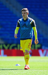 CARDIFF, WALES - Friday, June 5, 2015: Wales' Declan John before a practice match at the Cardiff City Stadium ahead of the UEFA Euro 2016 Qualifying Round Group B match against Belgium. (Pic by David Rawcliffe/Propaganda)