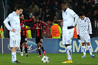 FOOTBALL - CHAMPIONS LEAGUE 2010/2011 - GROUP STAGE - GROUP G - AJ AUXERRE v MILAN AC - 23/11/2010 - JOY RONALDINHO AFTER HIS GOAL - ROBINHO - PHOTO FRANCK FAUGERE / DPPI