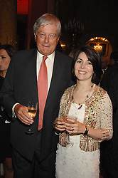 ARCHIE & SHARON STIRLING at a party to celebrate the launch of the 'Inde Mysterieuse' jewellery collection held at Lancaster House, London SW1 on 19th September 2007.<br />
