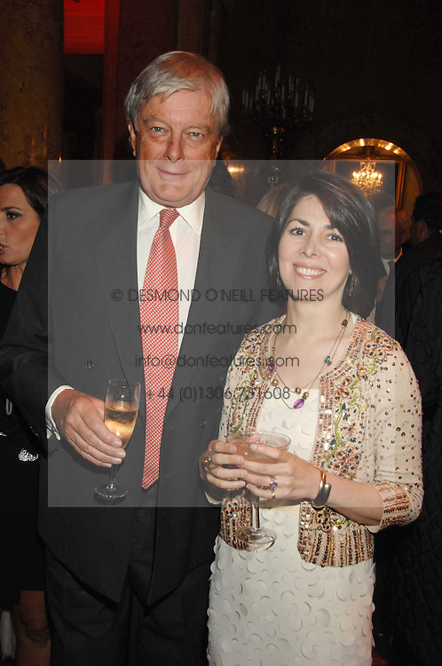 ARCHIE &amp; SHARON STIRLING at a party to celebrate the launch of the 'Inde Mysterieuse' jewellery collection held at Lancaster House, London SW1 on 19th September 2007.<br />