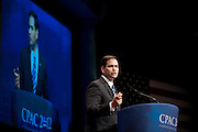 Senator MARK RUBIO (R-FL), National Executive Director, the American Conservative Union, speaks at the annual Conservative Political Action Conference (CPAC) in Washington, D.C. on Thursday. ..CPAC, which began in 1973, attracts more than 10,000 people and The American Conservative Union, which runs it, announced it expected 1,200 members of the media.