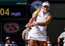 LONDON, ENGLAND - Saturday, July 14, 2018: Angelique Kerber (GER) during the Ladies' Singles Final match on day twelve of the Wimbledon Lawn Tennis Championships at the All England Lawn Tennis and Croquet Club. Kerber won 6-3, 6-3. (Pic by Kirsten Holst/Propaganda)