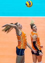 20-10-2018 JPN: Final World Championship Volleyball Women day 18, Yokohama<br /> China - Netherlands 3-0 / Nicole Oude Luttikhuis #17 of Netherlands, Britt Bongaerts #12 of Netherlands