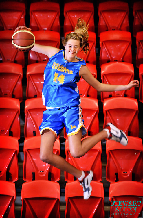 24/11/2010 NEWS: NEWS Lily Longley is the daughter of basketballer Luc Longley and former model mum Kelly. She is a rising basketballer and aspiring model  Picture at Perry Lakes basketball stadium  Story Wendy Caccetta Photo Stewart Allen