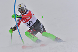 MARCOUX Mac Guide: LEITCH Jack, B3, CAN at 2018 World Para Alpine Skiing World Cup slalom, Veysonnaz, Switzerland