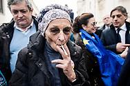 Napoli, Italia - Emma Bonino, leader di +Europa al termine di un comizio a Napoli.<br /> Ph. Roberto Salomone