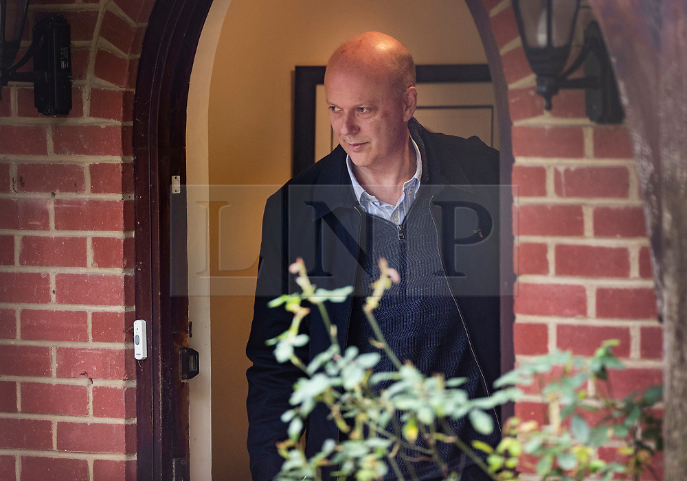 © Licensed to London News Pictures. 02/03/2019. Ashtead, UK. Transport Secretary Chris Grayling leaves his home. Mr Grayling has been criticised after it was revealed that the government has paid £33 million to Eurotunnel in a legal dispute over post Brexit ferry contracts. Photo credit: Peter Macdiarmid/LNP