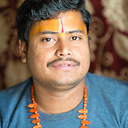 Hindu priest at Galta temple in Jaipur