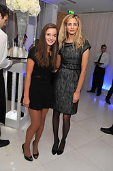 Left to right, CELINE BUCKENS and TAMSIN EGERTON at the pre party for the English National Ballet's Christmas performance of The Nutcracker held at the St.Martin's Lane Hotel, St.Martin's Lane, London on 14th December 2011.