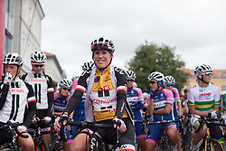 Ellen van Dijk (NED) of Team Sunweb smiles before Stage 1 of the Ladies Tour of Norway - a 101.5 km road race, between Halden and Mysen on August 18, 2017, in Ostfold, Norway. (Photo by Balint Hamvas/Velofocus.com)