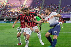 July 31, 2018 - Minneapolis, Minnesota, U.S - Tottenham's FERNANDO LLORENTE (18) battles for the ball with Milan defenders MATEO MUSACCHIO (22) and MANUEL LOCATELLI  (Credit Image: © Keith R. Crowley via ZUMA Wire)