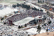 The fans still line up for the Grizzly games no matter how cold it gets. Missoula Photographer, Picture of Missoula