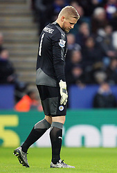 Kasper Schmeichel of Leicester City - Mandatory byline: Jack Phillips/JMP - 23/01/2016 - FOOTBALL - King Power Stadium - Leicester, England - Leicester City v Stoke City - Barclays Premier League