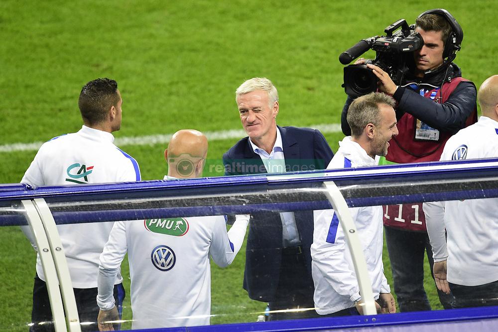 October 10, 2017 - St Denis, France, France - joie de Didier Deschamps - selectionneur (France) en fin de match (Credit Image: © Panoramic via ZUMA Press)