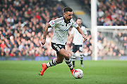 Fulham defender Ryan Fredericks (07) dribbling into box during the Sky Bet Championship match between Fulham and Bristol City at Craven Cottage, London, England on 12 March 2016. Photo by Matthew Redman.