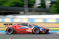 Francois Perrodo (FRA) / Emmanuel Collard (FRA) / Rui Aguas (PRT) #83 AF Corse Ferrari F458 Italia,  during first practice for the Le Mans 24 Hr June 2016 at Circuit de la Sarthe, Le Mans, Pays de la Loire, France. June 15 2016. World Copyright Peter Taylor/PSP.