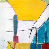 Mixed media urban painting Acrylic and mixed media paintings