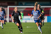 Joanna Andersson (Chelsea) & Kayleigh Green (Brighton) during the FA Women's Super League match between Brighton and Hove Albion Women and Chelsea at The People's Pension Stadium, Crawley, England on 15 September 2019.