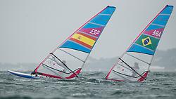 2012 Olympic Games London / Weymouth<br /> RSX man racing day 1 <br /> RS:X MenESPPastor Lafuente Ivan<br /> RS:X MenBRASantos Ricardo