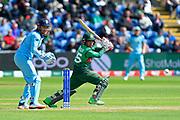 Mushfiqur Rahim (wk) of Bangladesh batting during the ICC Cricket World Cup 2019 match between England and Bangladesh the Cardiff Wales Stadium at Sophia Gardens, Cardiff, Wales on 8 June 2019.