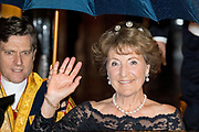 Koningspaar biedt Corps Diplomatique diner aan in het Paleis op de dam /// Royal Couple offers Corps Diplomatique dinner in the Palace on the dam<br /> <br /> Op de foto / On the photo:  Prinses Margriet