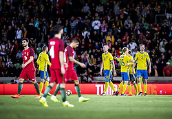 March 28, 2017 - Funchal, Madeira, Portugal - 18. Pontus Jansson, 15. Oscar Hiljemark, 2. Mikael Lustig,..Sweden defeated Portugal 3-2 in a friendly game at Estadio do Maritimo, Madeira, Portugal 2017-03-28..(c) ERICSSON MARCUS  / Aftonbladet / IBL BildbyrÃ¥....* * * EXPRESSEN OUT * * *....AFTONBLADET / 85729 (Credit Image: © Aftonbladet/IBL via ZUMA Wire)