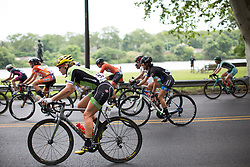Alison Tetrick of Cylance Pro Cycling rides in the peloton in the first lap of the Philadelphia International Cycling Classic, a 117.8 km road race in Philadelphia on June 5, 2016 in Philadelphia, PA.
