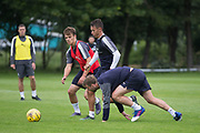 Trialist Nils Rutten, Danny Williams and Rory Loy battle for the ball -  Dundee FC - Pre-season training at University Grounds, Riverside, Dundee, Photo: David Young<br /> <br />  - &copy; David Young - www.davidyoungphoto.co.uk - email: davidyoungphoto@gmail.com