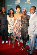 26 June 2010-Miami Beach, Fla- l to r: Lee Daniels, Nicole Friday, Tamara Tunie, Olivia Smashum, and Jeff Friday at The 2010 ABFF Honors Awards Ceremony held at The New World Symphony Lincoln Theater on June 26, 2010 in Miami Beach, Florida. Terrence Jennings/Sipa