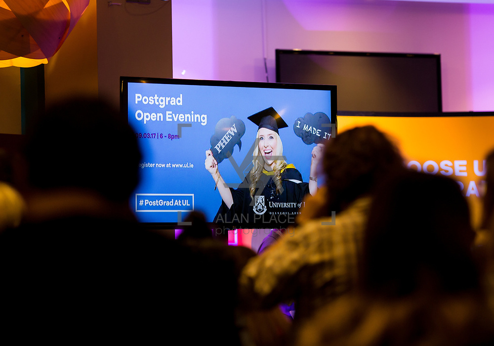 09.03.2017<br /> University of Limerick Post Grad Open Evening in the North Campus Pavilion. Picture: Alan Place