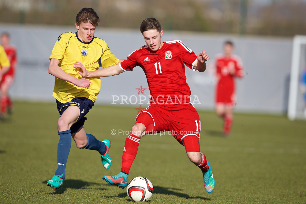 NEWPORT, WALES - Sunday, February 8, 2015: Wales' Josh Webber during a friendly match against South Wales at Dragon Park. (Pic by David Rawcliffe/Propaganda)