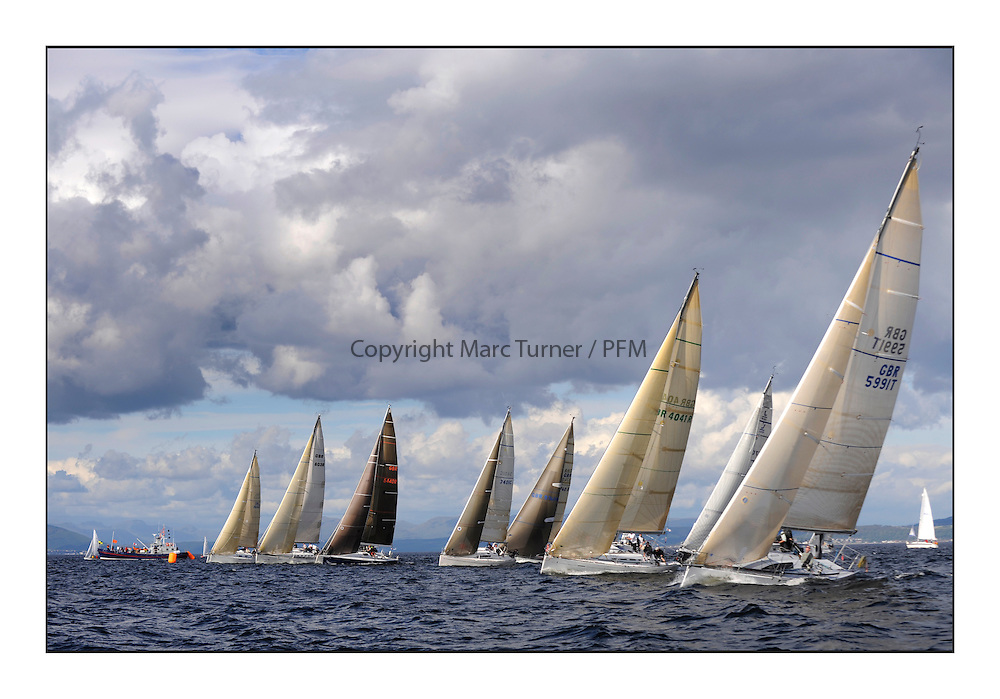 Largs Regatta Week 2011..Class one start