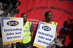 © licensed to London News Pictures.  30/06/2011. London, UK. Public sector workers and Union members demonstrate in Mile End, East London today (30/06/2011) against planned changes to pension plans and funding cuts. Marches are taking place across the UK.  See special instructions. Photo credit: Ben Cawthra/LNP