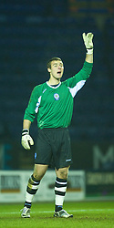LEICESTER, ENGLAND - Tuesday, January 12, 2010: Leicester City's goalkeeper Robert Ambrusics during the FA Youth Cup 4th Round match at the Walkers Stadium. (Photo by David Rawcliffe/Propaganda)