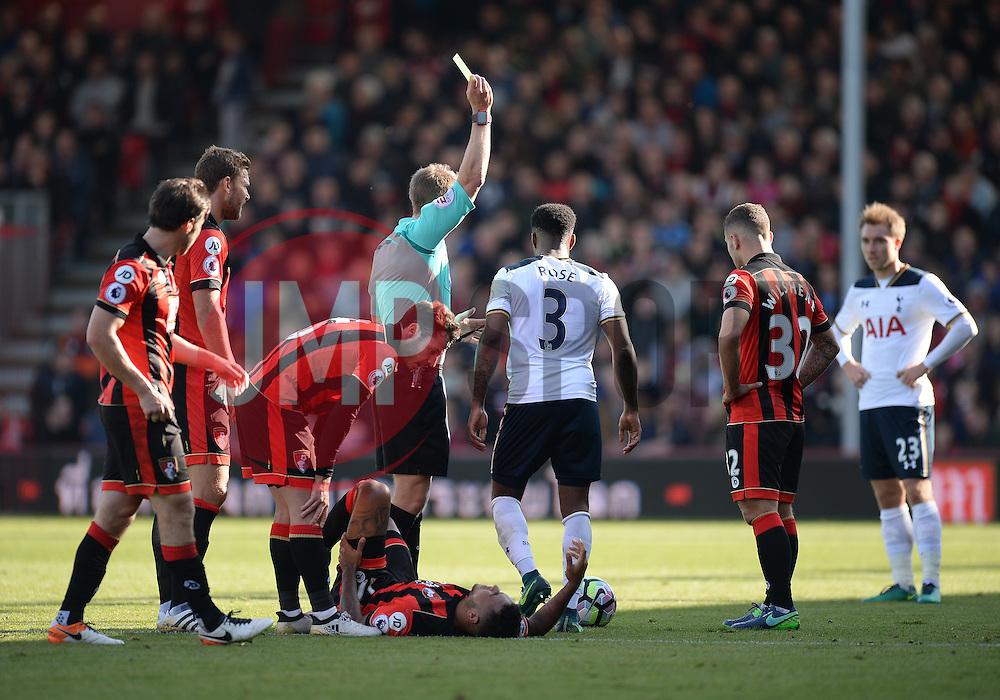 Danny Rose of Tottenham Hotspur is shown a yellow card. - Mandatory by-line: Alex James/JMP - 22/10/2016 - FOOTBALL - Vitality Stadium - Bournemouth, England - AFC Bournemouth v Tottenham Hotspur - Premier League