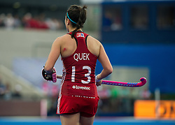 England's Sam Quek displays a battle scar. England v The Netherlands - Final Unibet EuroHockey Championships, Lee Valley Hockey & Tennis Centre, London, UK on 30 August 2015. Photo: Simon Parker