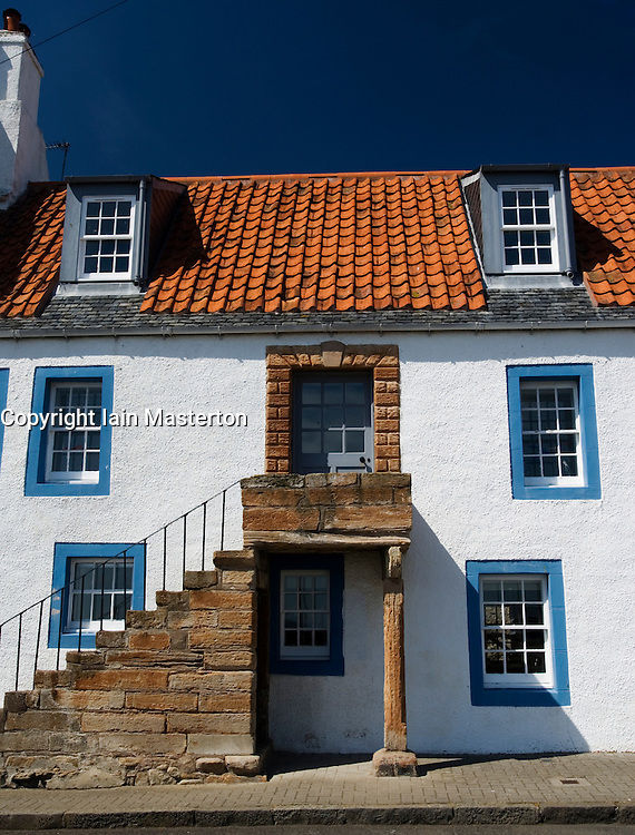 Traditional old fisherman's house in village of St Monans in East Neuk of Fife in Scotland