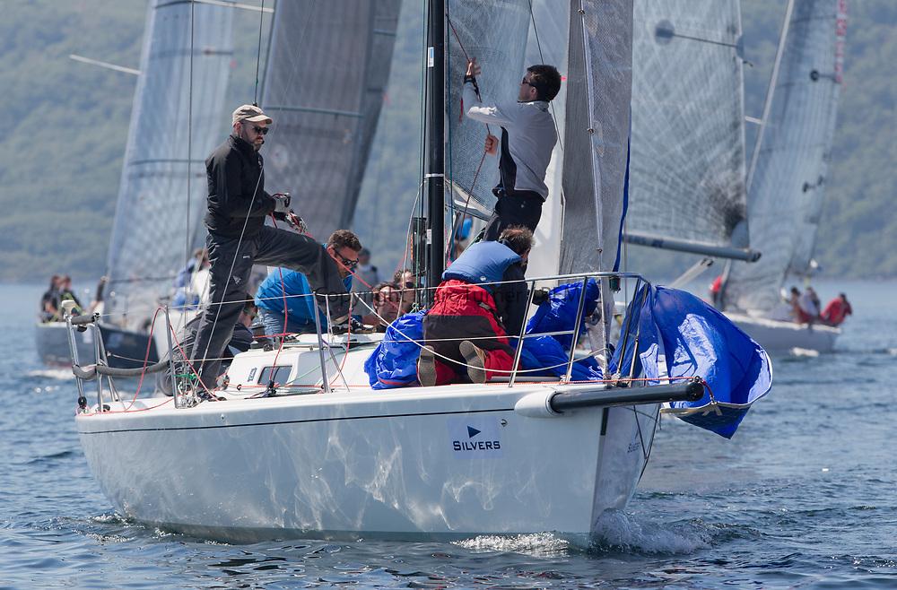 Silvers Marine Scottish Series 2017<br /> Tarbert Loch Fyne - Sailing<br /> <br /> GBR8538R, Jack, Mr Peter Doig, East Antrim Boat Club, J92