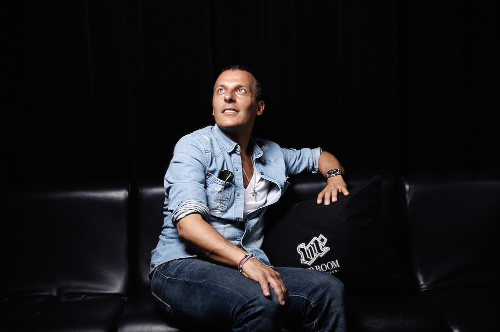 Famous VIP Room owner Jean Roch in his club during the Cannes Film Festival. France. 13 May 2009. Photo: Antoine Doyen