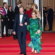 LUX/Luxemburg/20180524 - Staatsbezoek Luxemburg dag 2,  Groothertog Henri en groothertogin Maria Teresa bij de contraprestatie