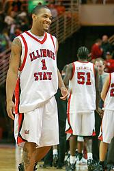 11 December 2004<br /> <br /> Lorenzo Gordon<br /> <br /> ISU Redbirds V Marshall Thundering Herd NCAA Men's Basketball.  Redbird Arena, Illinois State University, Normal IL