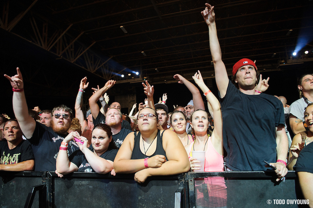 Atmosphere from Mayhem Fest 2012 at Verizon Wireless Amphitheater in St. Louis on July 20, 2012.