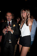DEAN CATEN; ALEX CATTELL  DSquared2 Launch of their Classic collection. Tramp. Jermyn St. London. 29 June 2011. <br /> <br />  , -DO NOT ARCHIVE-© Copyright Photograph by Dafydd Jones. 248 Clapham Rd. London SW9 0PZ. Tel 0207 820 0771. www.dafjones.com.