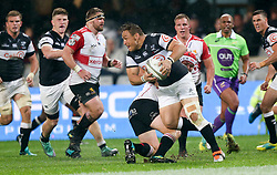 Durban. 20918. Coenie Oosthuizen of the Cell C Sharks during the Currie Cup match between Cell C Sharks and Xerox Golden Lions XV at Jonsson Kings Park Stadium in Durban, South Africa. Picture Leon Lestrade. African News Agency. ( ANA ).
